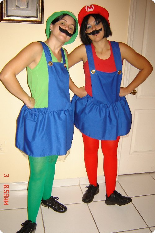 Female Mario and Luigi Costumes