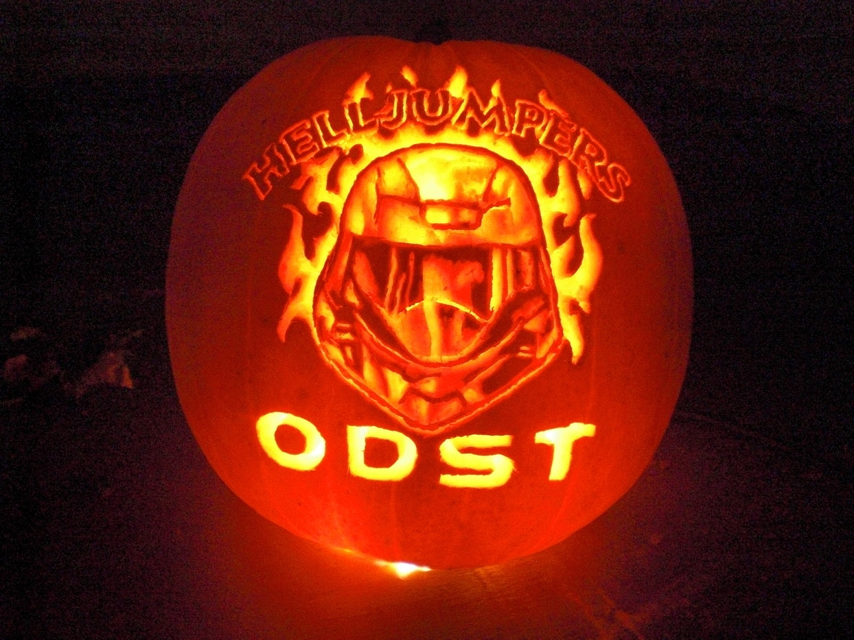 Helljumpers logo - Excellent halloween decoration using badass pumpkin carving stencil ...