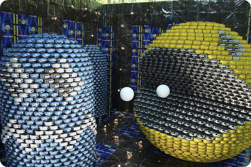 Pac-Man Canstruction