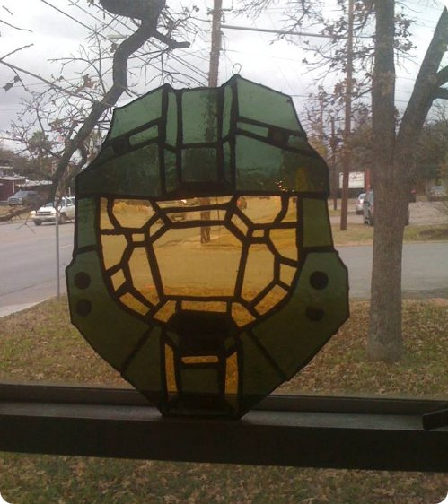 Master Chief Stained Glass
