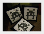 Space Invaders Pillow Cover