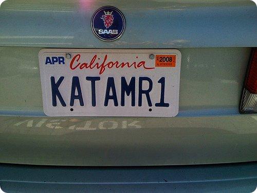 Katamari License Plate