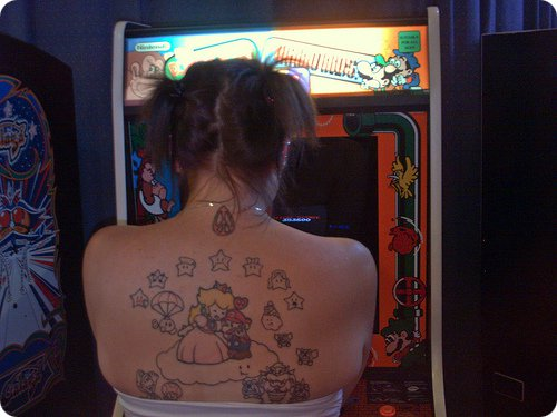 Mario Back Tattoo