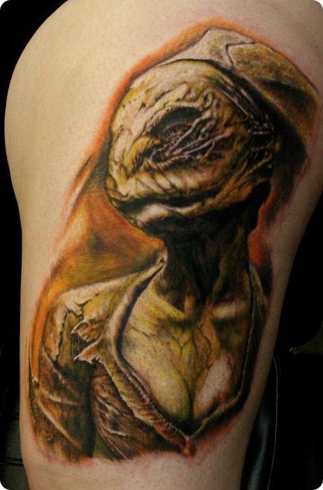 Silent Hill Nurse Tattoo