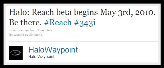 Halo: Reach Beta Announcement