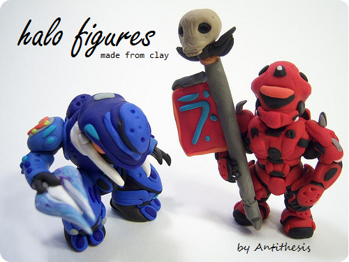 Halo Clay Figures