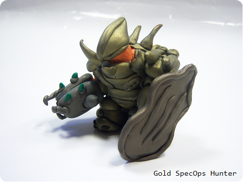Halo Hunter Clay Figure