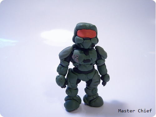 Halo Clay Master Chief Figure