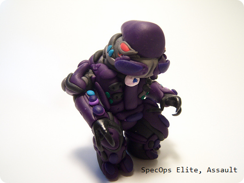Halo Assault Elite Clay Figure