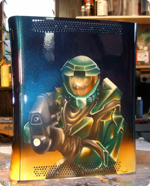 custom airbrushed halo xbox 360
