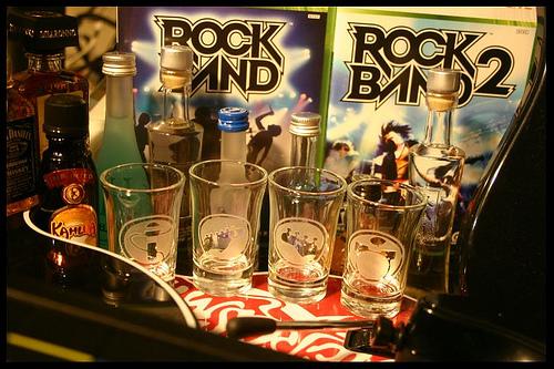 Rock Band Shot Glasses