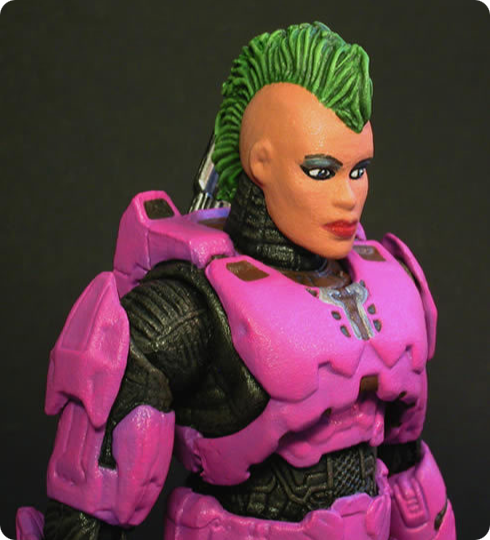 Custom Pink Halo Action Figure