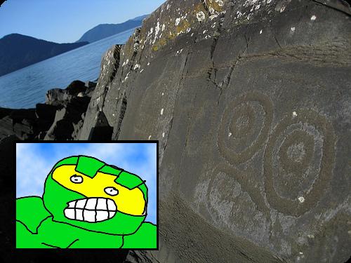 Mister Chief Petroglyph