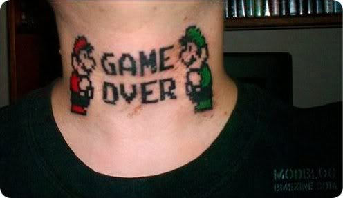 Game Over Tattoo
