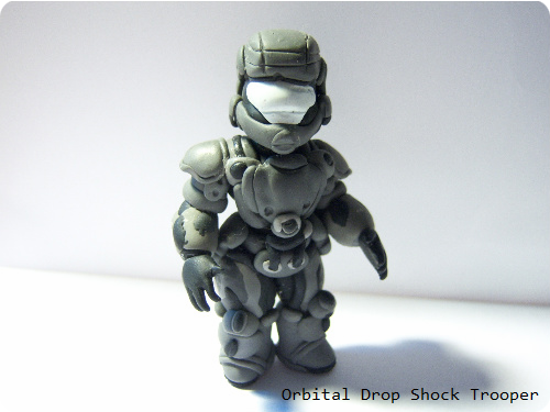 Halo Clay Figure Orbital Drop Shock Trooper