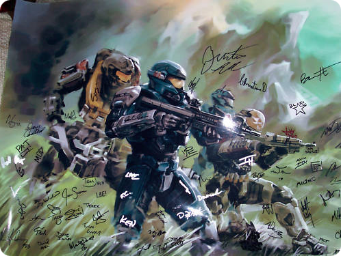 Autographed Halo: Reach Print