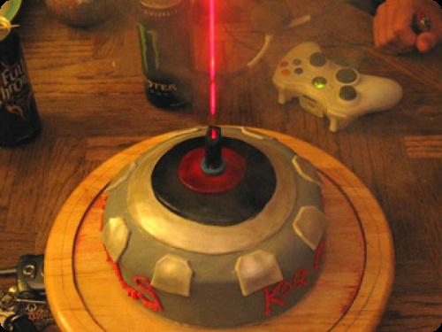 Halo 3 Spartan Laser Cake