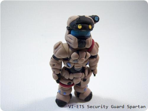 Halo Clay Figure VI-ETS Security Guard