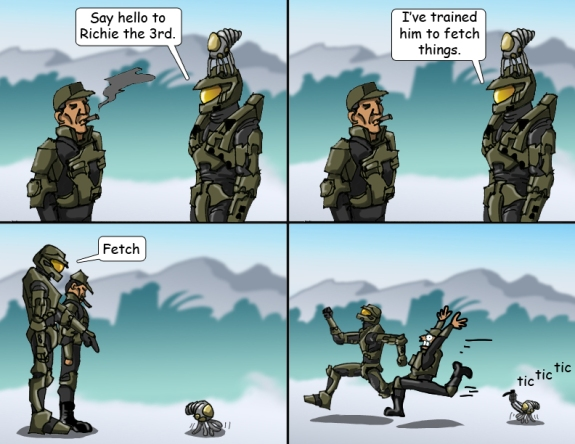 Halo Comic Master Chief's Pets 3