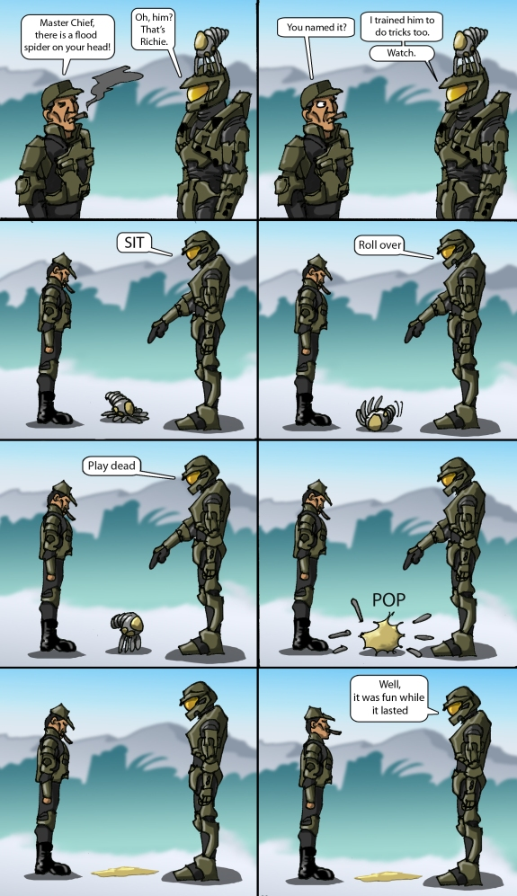 Halo Comic Master Chief's Pets