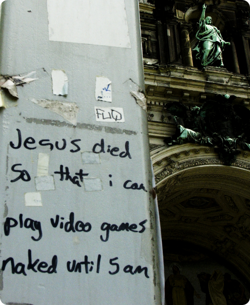 Jesus Died So I Can Play Video Games