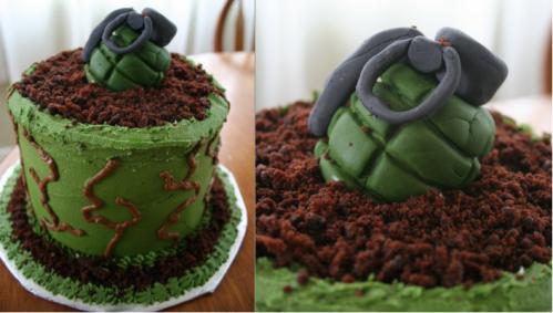 Halo Grenade Cake