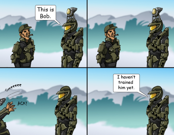 Halo Comic Master Chief's Pets 4