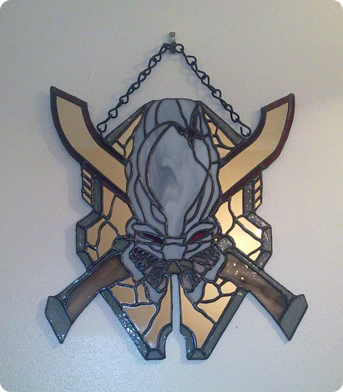 Halo Stained Glass